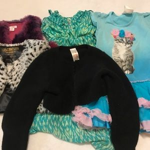 Lot Bundle of 5 Pieces Clothing Girls Size 4T/5T